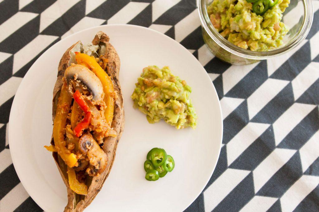 Batata asada estilo mexicano